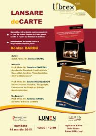 Publica cartea ta la Editura Stiintifica Lumen afis lansare carti denisa barbu