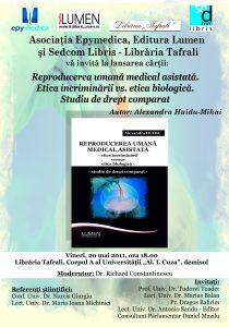Publica cartea ta la Editura Stiintifica Lumen afis lansare huidu BT 3
