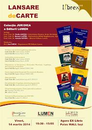 Publica cartea ta la Editura Stiintifica Lumen colectia juridica afis lansare colectie